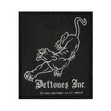 Deftones Inc Black Panther Logo Patch Rock Metal Music Woven Sew On Applique