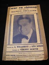 Partition Coeur en chômage Maurice Chevalier Koger Music Sheet