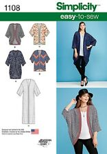 S1108 aka 0402 Simplicity Paper Sewing Pattern EASY Kimono Jackets Size 4 - 26