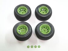 NEW HPI SAVAGE XS MINI FLUX Wheels & Tires Set VGJR Edition GREEN 12MM HXS16
