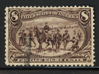 SCOTT 289 1898 8 CENT TRANS-MISSISSIPPI EXPOSITION ISSUE USED VF CAT $47!