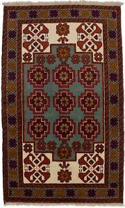 Rare Tribal Design Small 3'5X5'9 Handmade Area Rug Oriental Wool Decor Carpetet