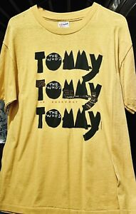 Vintage Broadway T Shirt The Who's Tommy, Rock Roll Musical Opera Theater 70's L