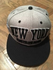 NEW ERA PINSTRIPE BOWL 9FIFTY SNAPBACK HAT WOOL CAP NEW YORK YANKEE STADIUM NY