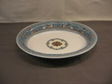 """Wedgwood Florentine Turquoise W2714 Oval Serving Bowl 10"""" Length VGC"""