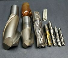 "7 NICE! Cobalt & HS End Mill Lot Niagara + 3/8"" to 2"" Machinist Cutting Tool"