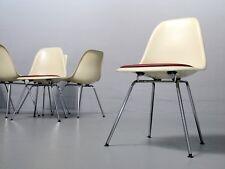 1 (v. 6) Ray  Charles Eames Fiberglass Side Chair DSX Herman Miller/ Vitra Leder