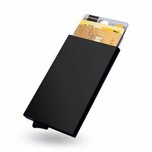 Kreditkartenetui Aluminium RFID Schutz Geldbörse Slim Ultra Wallet Geldklammer