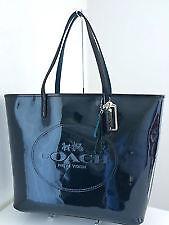 Coach Bag F32884 Bag Metro Patent Glitter Tote Black Blue Agsbeagle COD