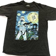 Star Wars Stormtrooper Starry Night Charcoal Heather Men's T-shirt Sz Large