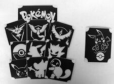 set 1 GLITTERTATTOO 11 different POKEMON stencils glitter tattoo must have L@@K!