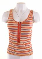 REPLAY Womens Vest Top Size 8 Small Multi Striped Cotton  BS12