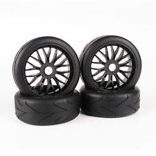 4Pcs 103MM 1/8 RC Rubber Tires Hex 17mm Wheel Rims For HSP RC On-Road Buggy Car