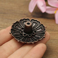 Chic Lotus Shape Incense Burner Holder Censer Plate For Stick Cone+ 9 Holes