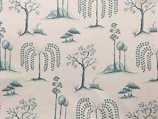 "SANDERSON ""WILLOW TREE"" CURTAIN CUSHION BLIND 100% COTTON FABRIC 2.7m"