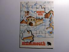 RARE Catalogue JOUETS Magasin MAMMOUTH 8 pages Publicitaire Année 1978