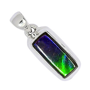 Ammolite 925 Sterling Silver Pendant Jewelry ALLP-3263