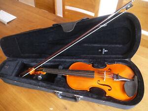 Geige-Violine mit Koffer und Bogen