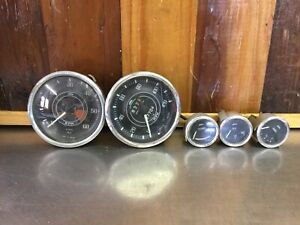 Triumph TR4 / TR4A  • Original Jaeger Gauge Set. Tachometer for Parts.     LT01