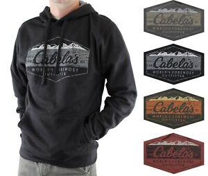 Cabela's Men's Fleece Hoodie Long Sleeve Logo Sweatshirt with Kangaroo Pocket