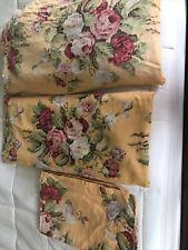 Ralph Lauren Kathleen QueenYellow Floral Sheet Set Fitted Flat 2Std Pillowcases
