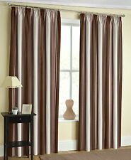 Striped Modern Curtains with Pencil Pleat