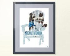 I SKI NY Poster - Adirondack Chair