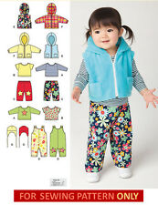 SEWING PATTERN! MAKE BABY PANTS~JACKET~OVERALLS! BOY~GIRL SIZE PREEMIE-18 MONTHS