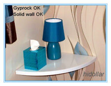 HIGH GLOSS CORNER FLOATING SHELF CONCEAL FITTING GYPROCK SOLID ORGANIZER 28X28CM