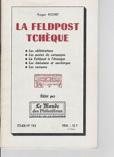 THE CZECH FIELDPOST WWI & WWII: Richet  Postal History Scarce book