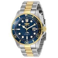 Invicta Men's Watch Pro Diver Quartz Date Blue Dial Two Tone Bracelet 30021