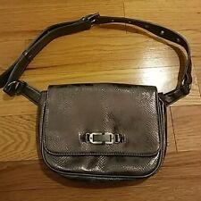 Naturalizer Belt Bag Wear-at-Waist Fanny Pack Purse SILVER Handbag Solid
