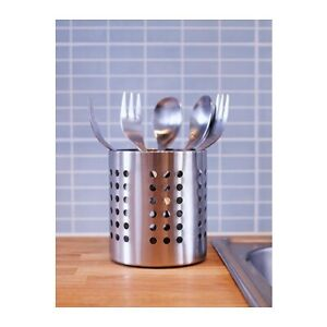 Ikea Kitchen Stainless Steel Cooking Tool Holder Cutlery Stand Strainer