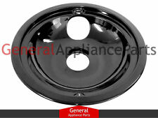 "Amana Whirlpool Caloric 8"" Black Porcelain Burner Drip Pan Bowl W10290350RW"