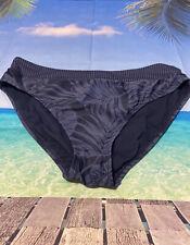 A4 Kona Sol Women's High Coverage Hipster Navy Bikini  Bottom. Size Large Floral