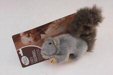 """10"""" Wild Grey Squirrel Rabbit Soft Dog Puppy Pet Toy Chew Fetch Training Play"""
