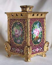 Fine Antique French Or German Gilt Bouquet SWAN Feet BOUGH POT Flower Frog Vase