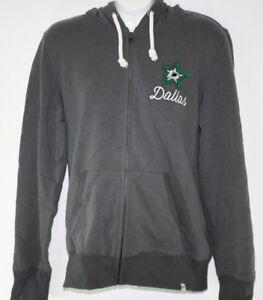 NEW Womens '47 Brand Dallas Stars NHL Hockey Full Zip Warm Up Hoodie Jacket NWOT