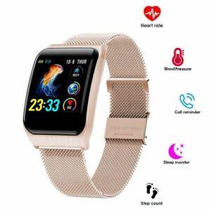 Women Men Bluetooth Smart Watch Heart Rate Blood Pressure Wristband Waterproof