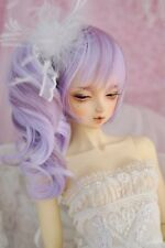 1 3 8-9 Bjd Wig Dal Pullip Wig For SD MSD DOD LUTS Dollfie Doll purple mix wigs