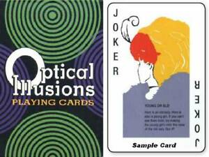 Playing Cards Classic Deck Optical Illusions Fun Teaching Tool US Games