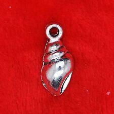 10 x Tibetan Silver Conch Shell Sealife Charm Pendant Finding Beading Making