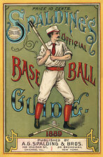 1889 Spaldings Official Base Ball Guide Cover 13 x 19 Giclee Print