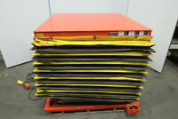 "Presto Lee 4XW36-20 2000lb Hydraulic Scissor Lift Table 48x48"" 8-43""H 115V"
