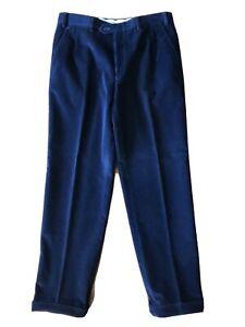 Brioni Pants Blue Corduroy
