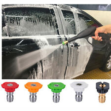 5 Pack Pressure Washer Spray Nozzle Tips 1/4 Quick Connect Design 2.5GPM 4000PSI