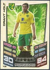 TOPPS MATCH ATTAX 2012-13- #430-NORWICH CITY-GRANT HOLT-MOTM-SILVER FOIL
