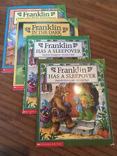 FRANKLIN BOOKS SET LOT TV Turtle Bourgeois 4 book gift Holiday Christmas Kids