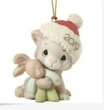 Precious Moments-'Christmas Kitty Cuddles' 2019 Cat Ornament #191007 New In Box