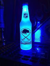 NHL Buffalo Sabres Hockey 12 oz Beer Bottle Light LED Bar Man Cave